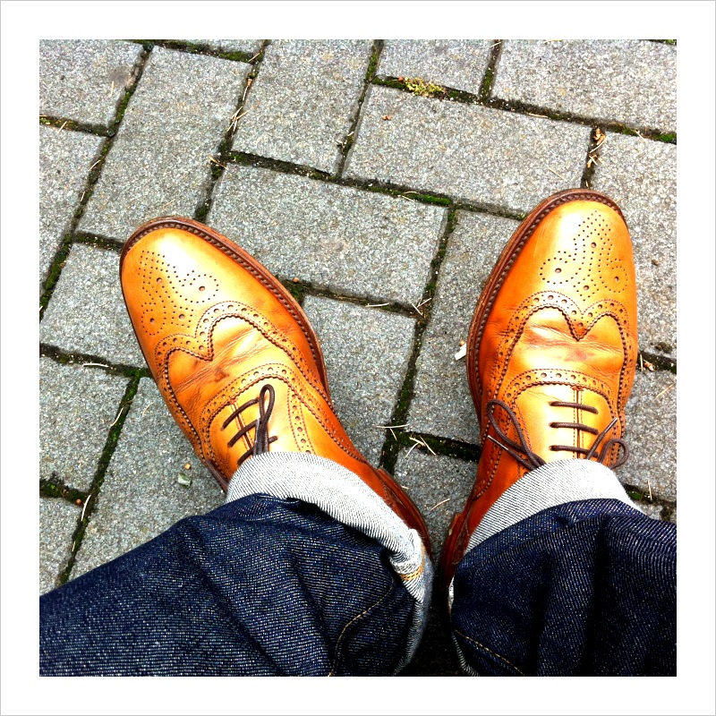 Tan Loake brogues