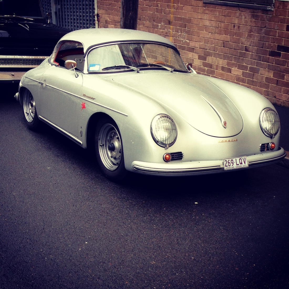 Silver Porsche 356: Porsche 356 Speedster