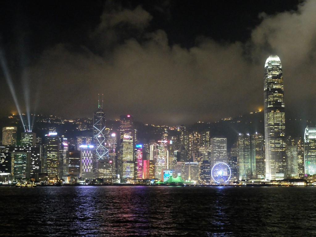 Hong Kong at night c