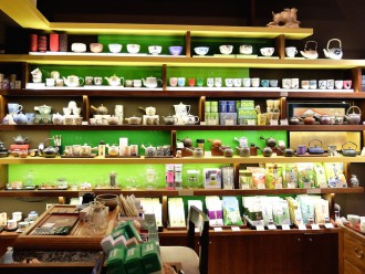 Quality Tea Strand Arcade shelves