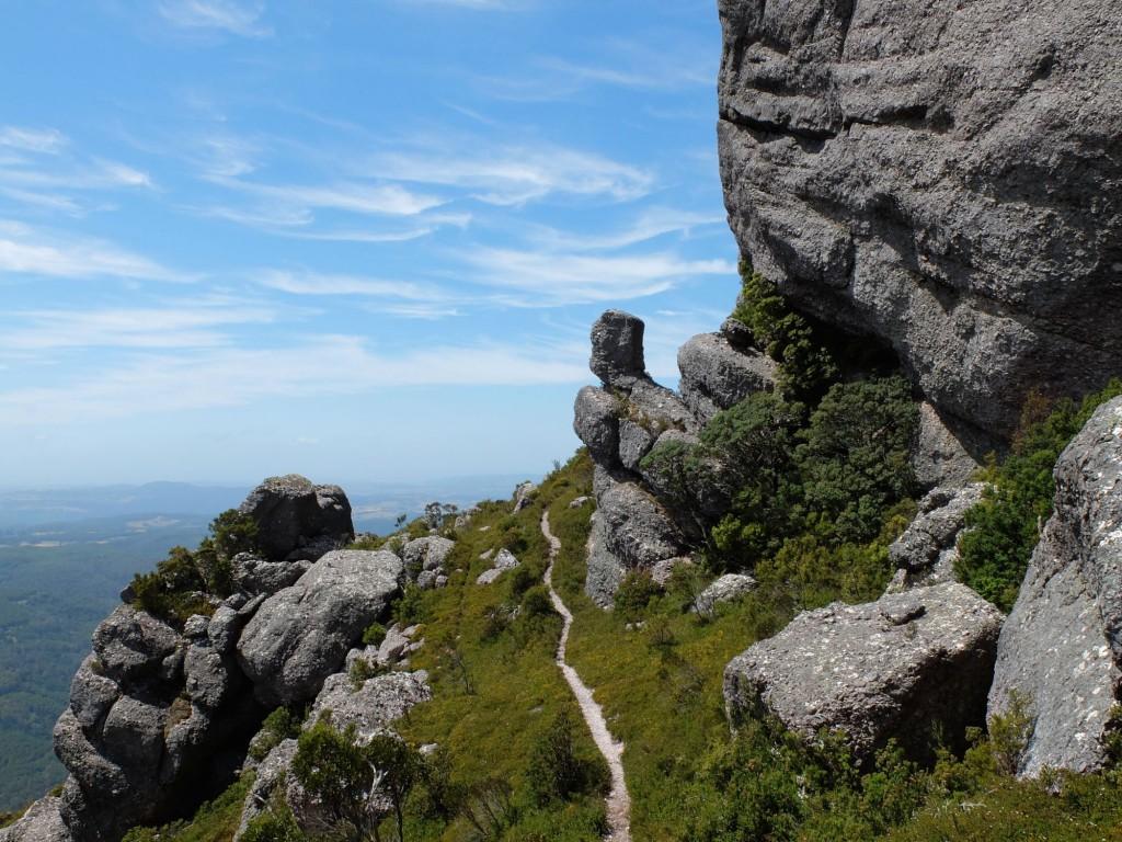 Tasmania Mt Claude path