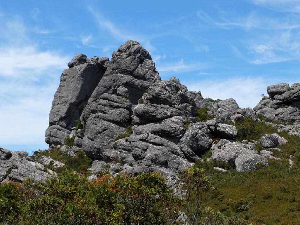 Tasmania Mt Claude rock formation