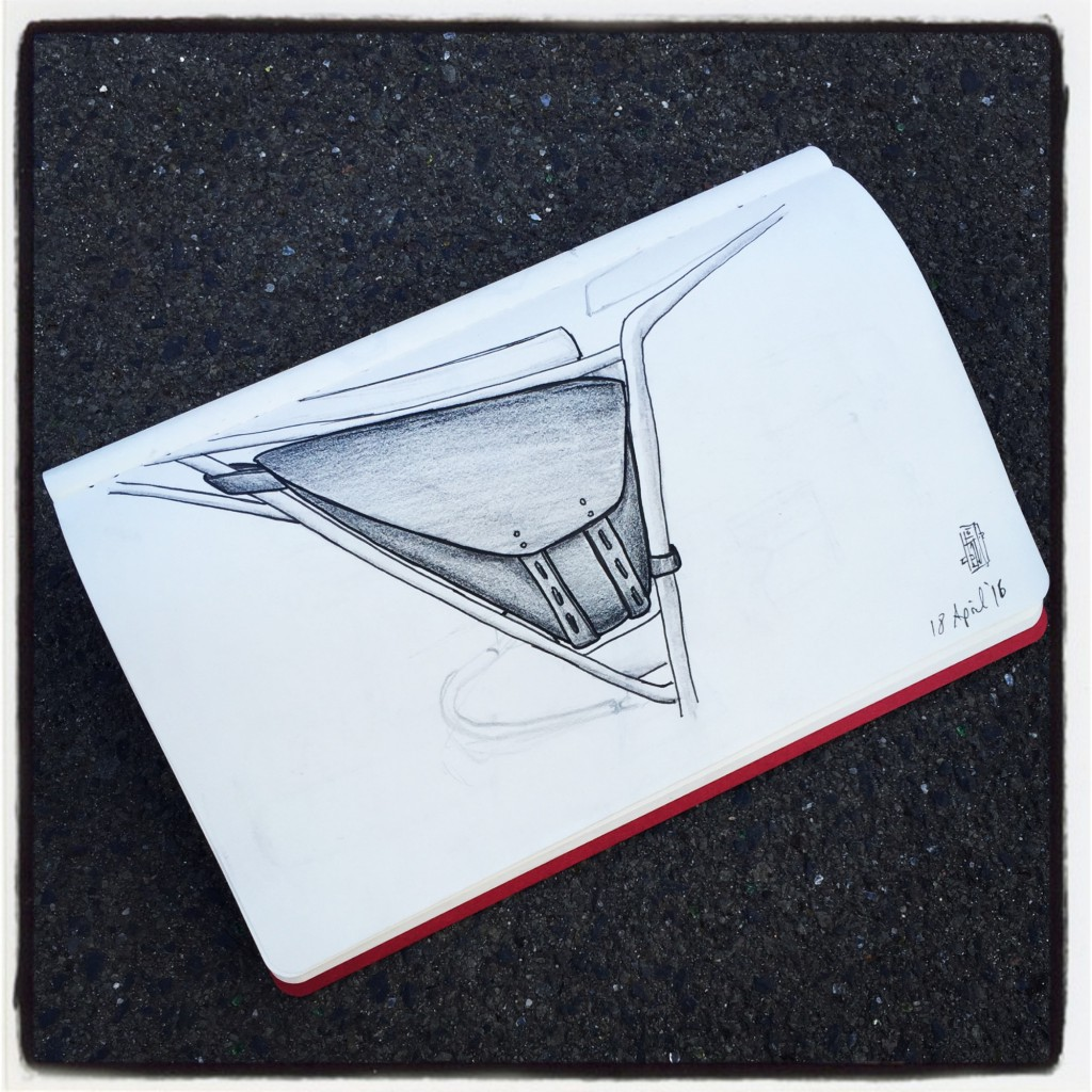 Deus custom saddlebag sketch