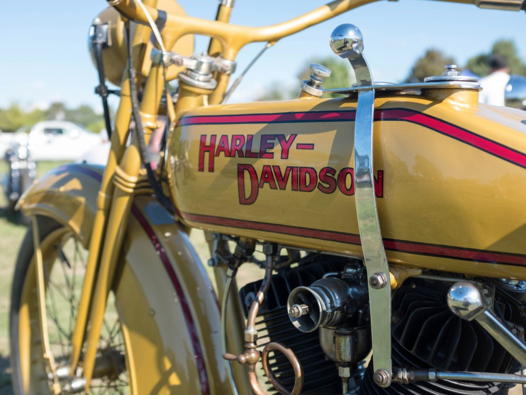 Machine Show Harley mustard detail